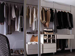 Spacepro Relax system from Bedrooms Plus creates stylish storage.